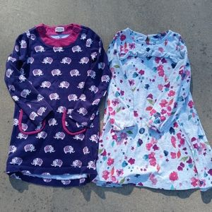 Girls size 6 bundle of two dresses